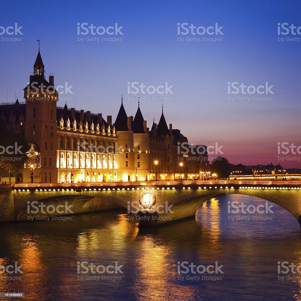 Paris, Seine River Bridge stock photo