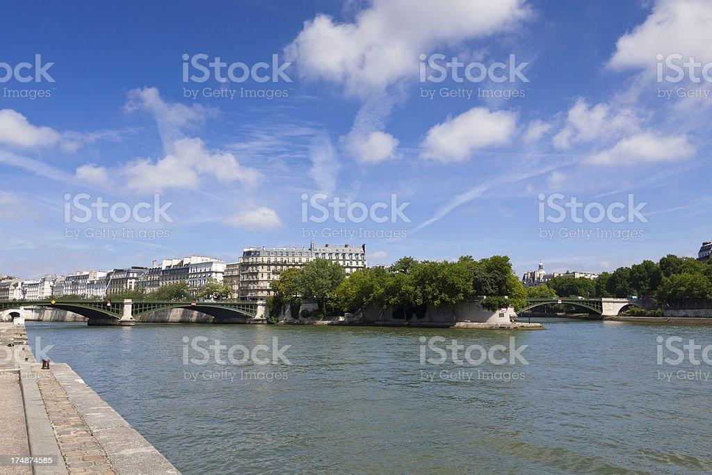 Paris, Seine river. stock photo