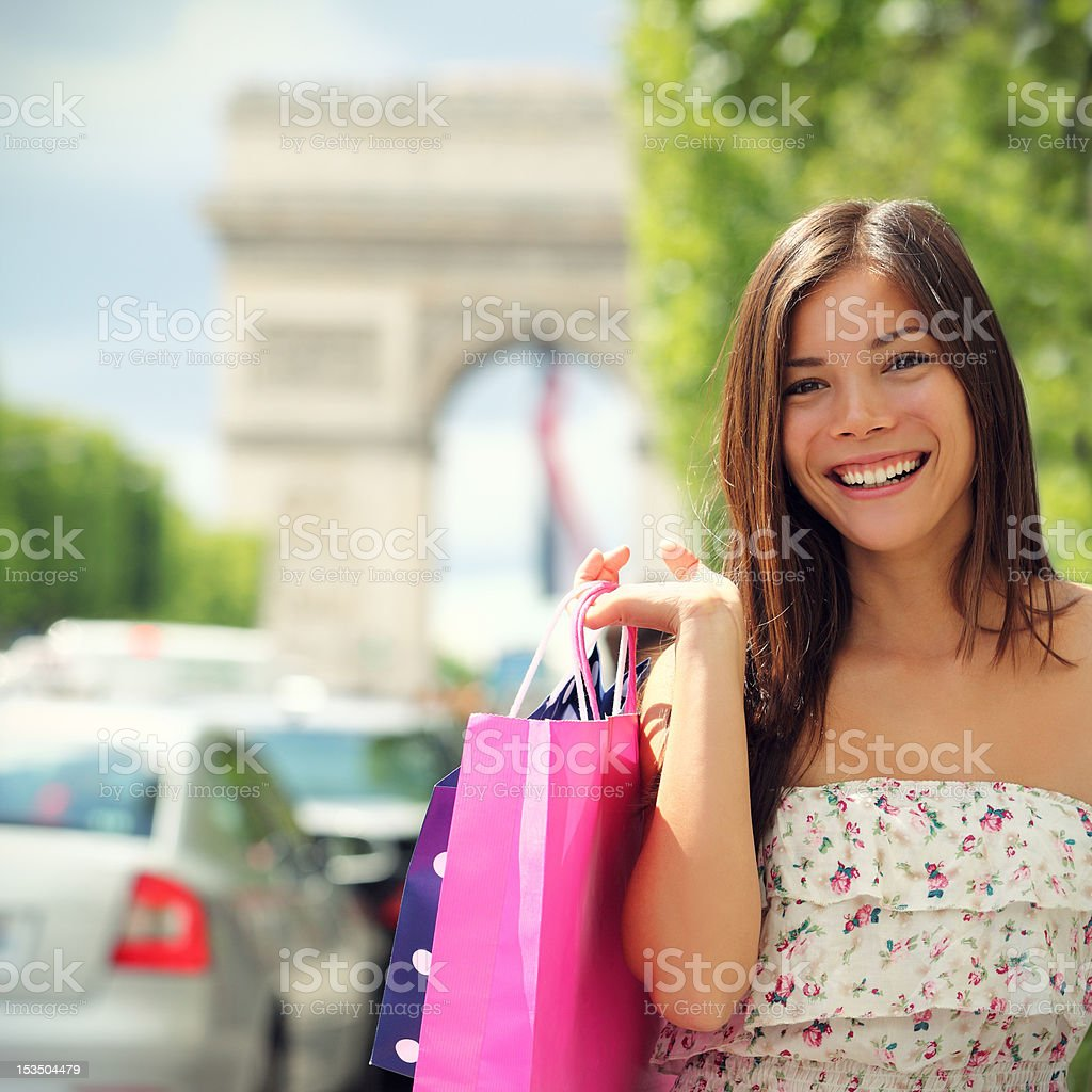 Paris Shopping Woman royalty-free stock photo