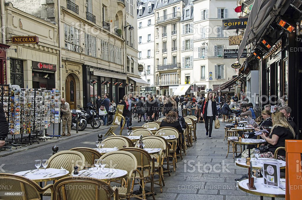 Paris Sidewalk Cafe stock photo