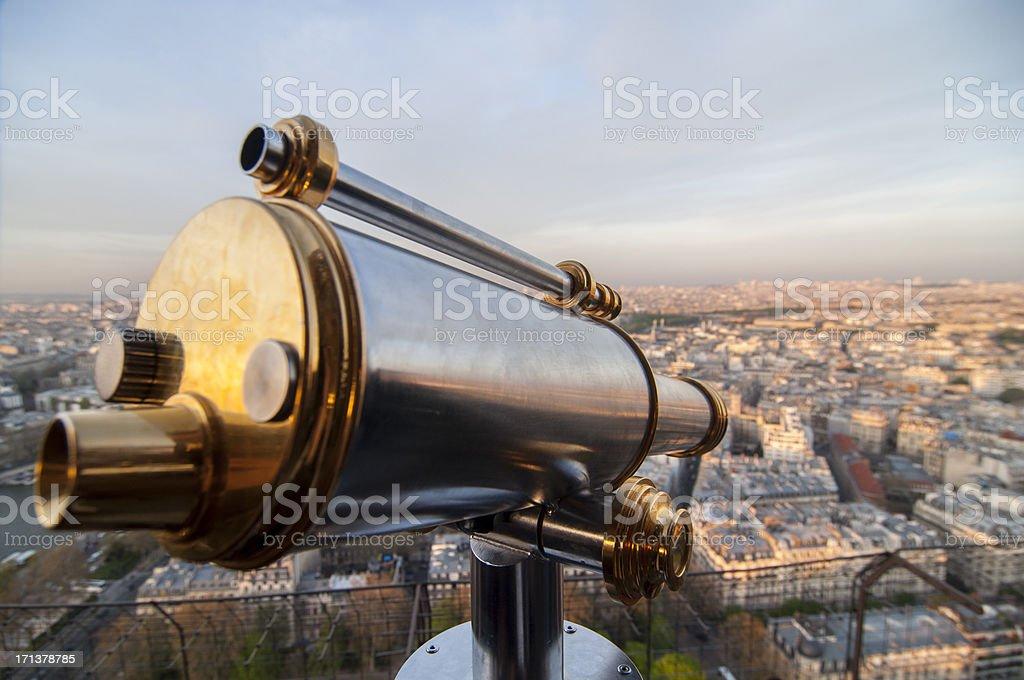Paris - Sightseeing Telescope royalty-free stock photo