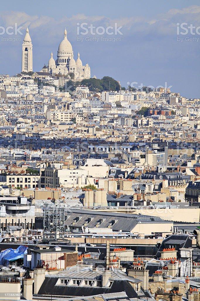 Paris Skyline stock photo