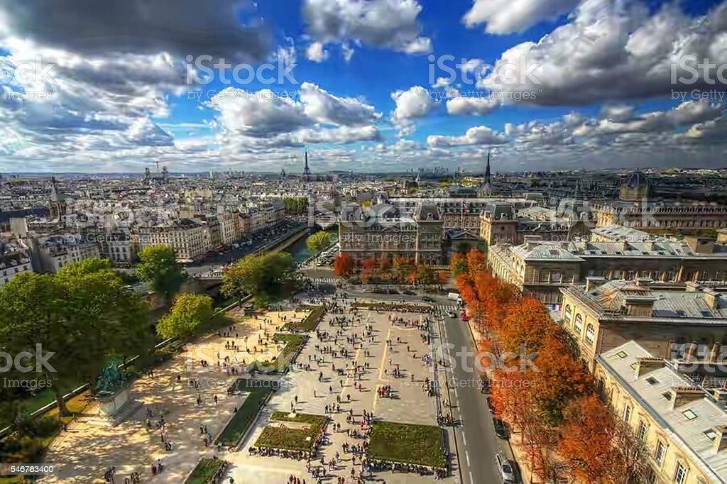 Skyline di Parigi  foto stock royalty-free