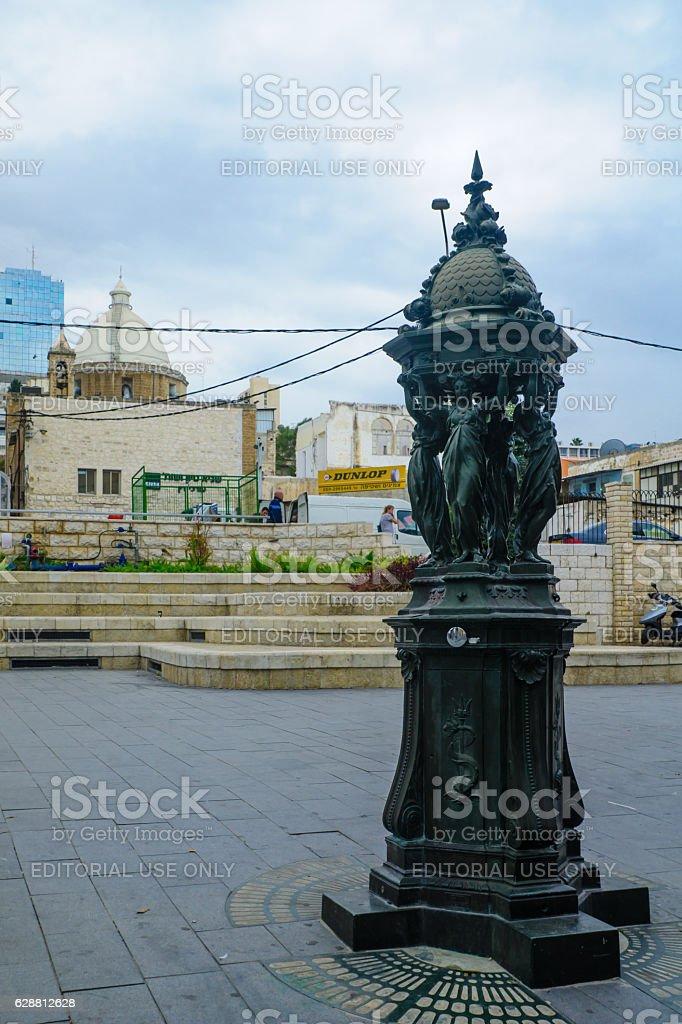 Paris Square in Haifa stock photo