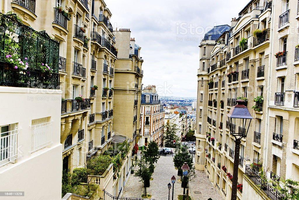 Paris steps royalty-free stock photo