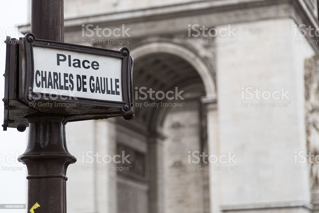 Paris street sign stock photo
