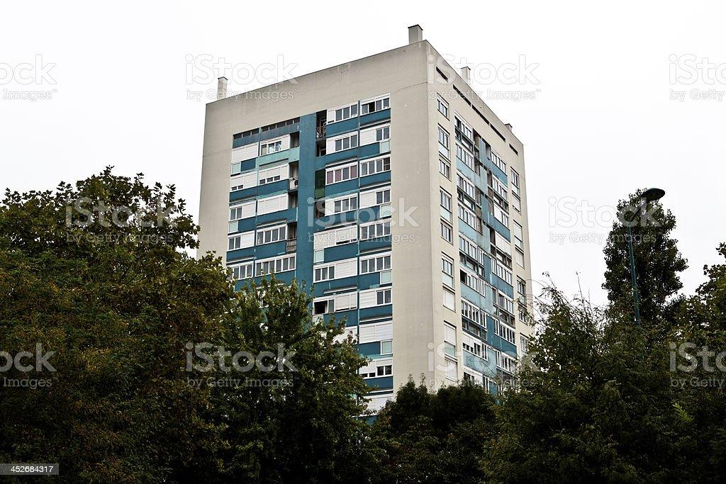 Paris suburb stock photo
