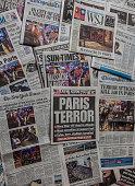Paris Terror Attack headline collage
