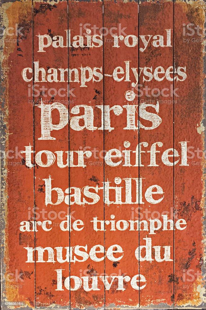 Paris textura de texto foto royalty-free