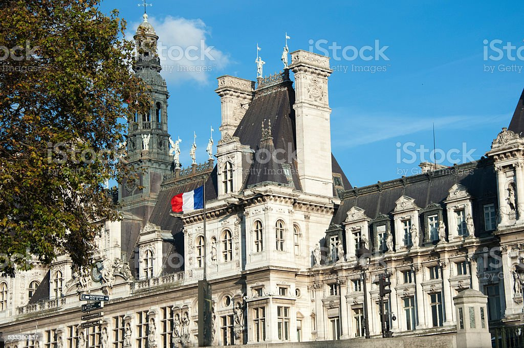 Paris - the city hall stock photo