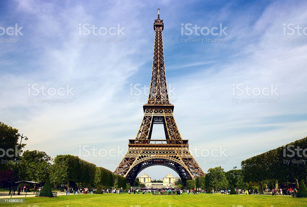 Paris - the Eiffel Tower royalty-free stock photo
