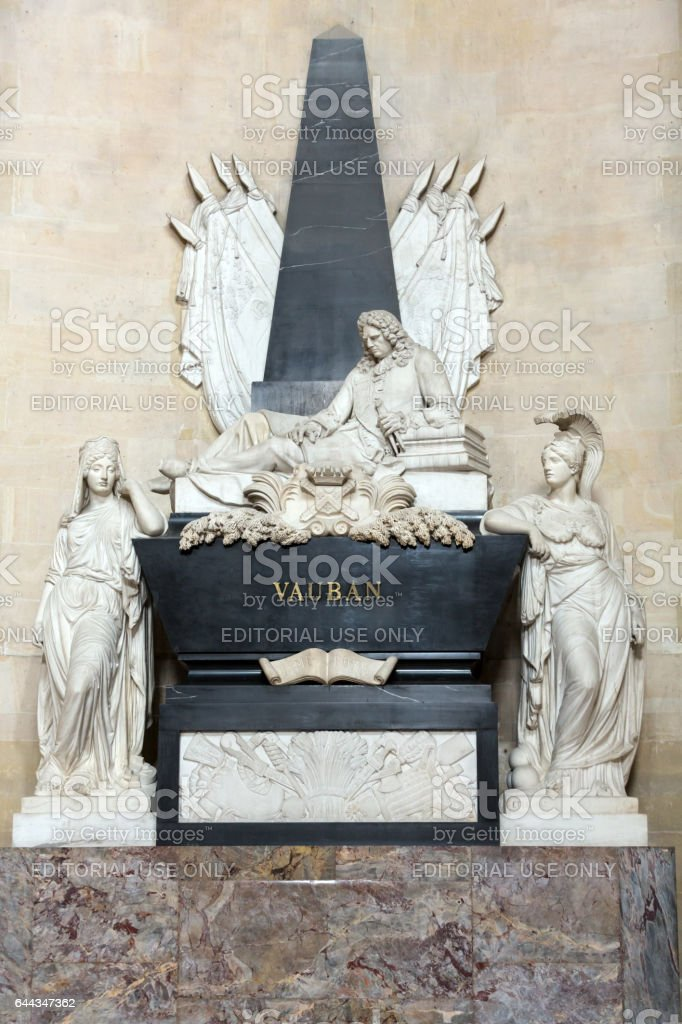 Paris - The National Residence of the Invalids. Marshal Vauban's tomb stock photo