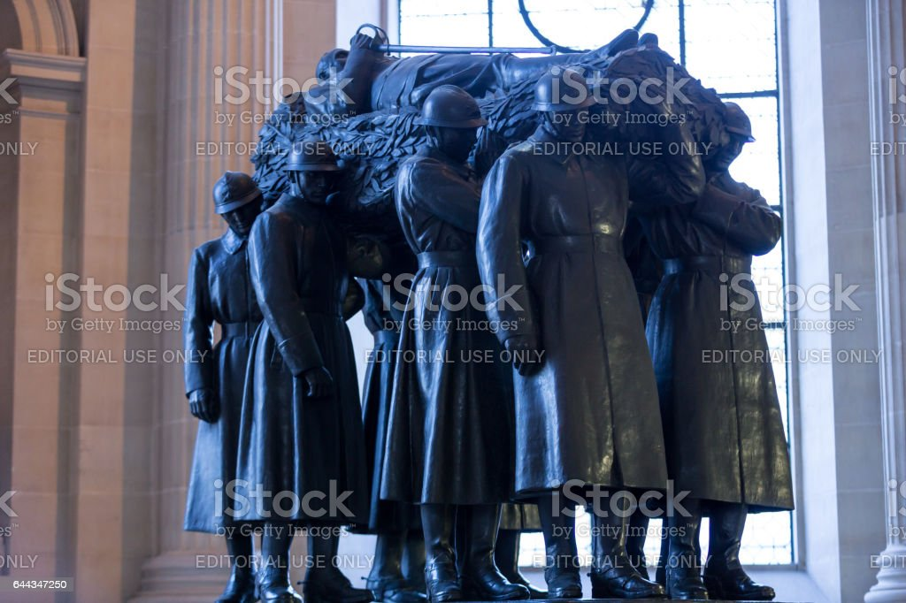 Paris - The National Residence of the Invalids. The tomb of Ferdinand Foch stock photo