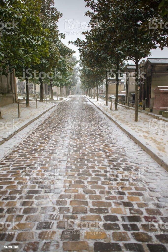 Paris, the Pere-Lachaise cemetery stock photo