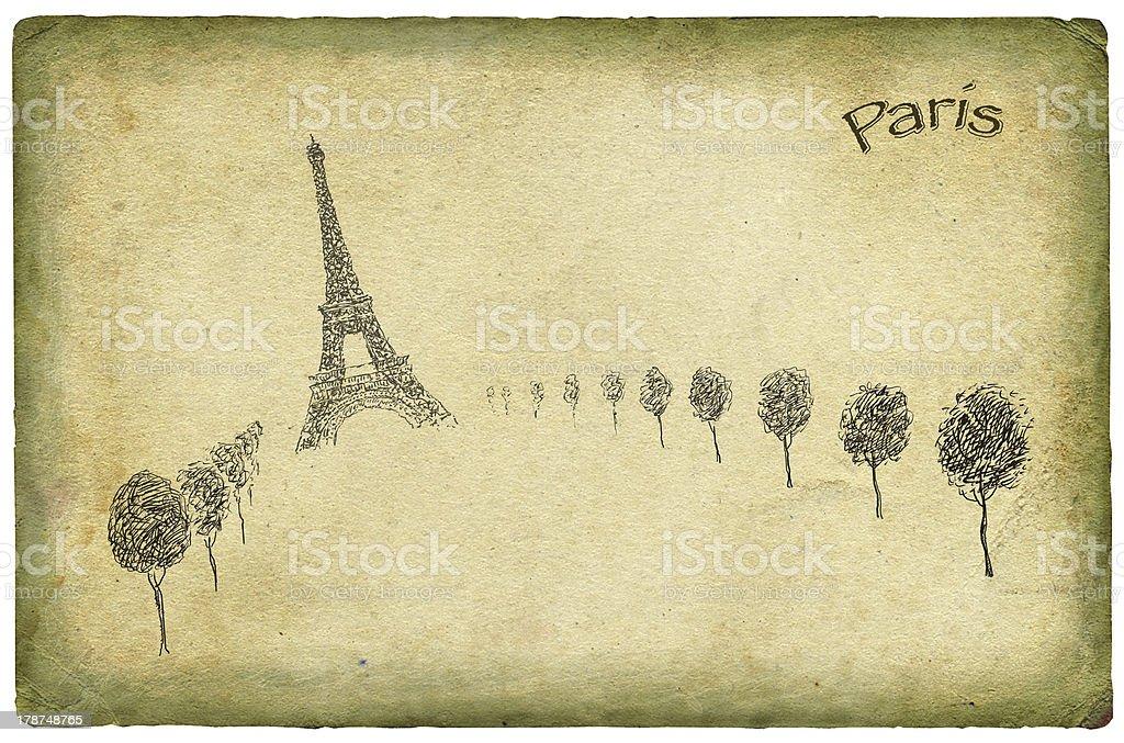 Paris theme background royalty-free stock photo