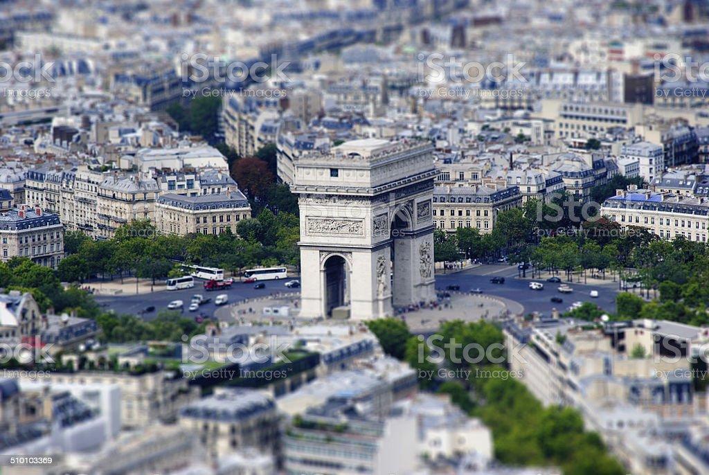 Paris. Tilt-Shift model stock photo