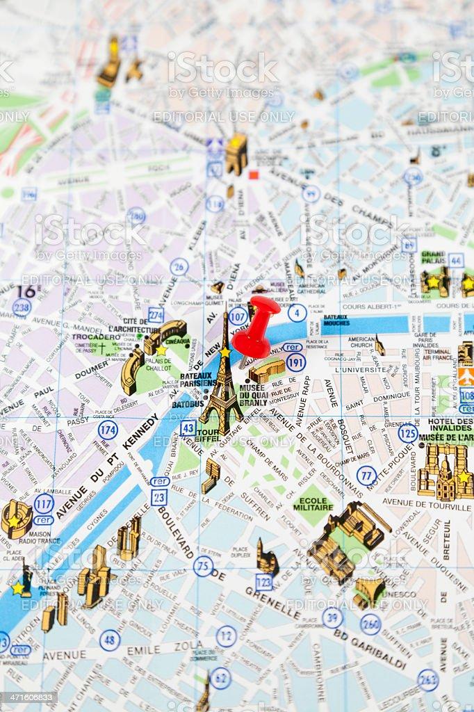 Paris Travel Destination Stock Photo IStock - Map of france travel to us destination