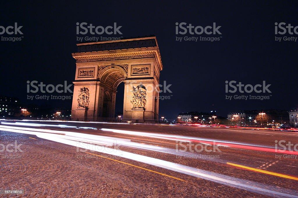 Paris Triumph Arch royalty-free stock photo