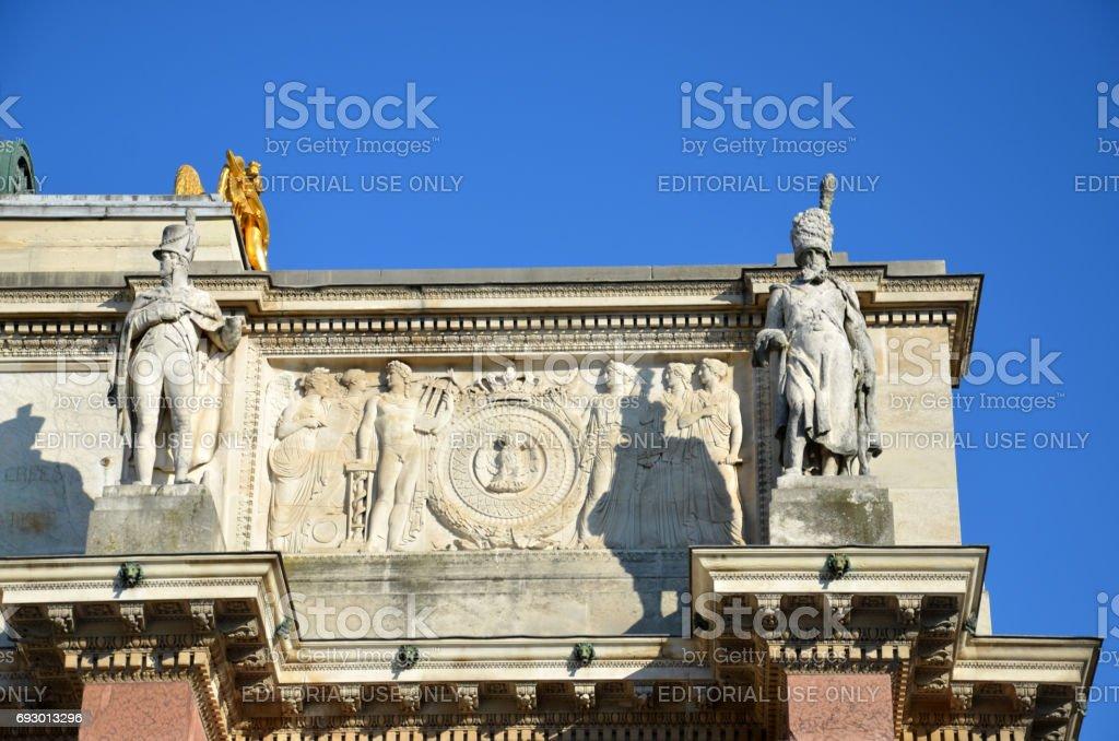 Paris - Triumphal Arch at Tuileries. stock photo