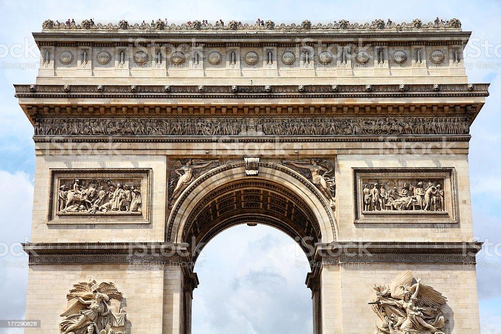 Paris - Triumphal Arch royalty-free stock photo