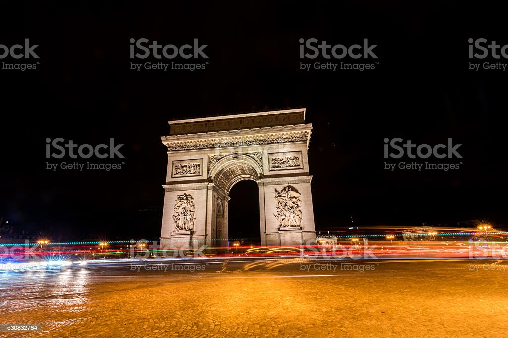 Paris, Triumphal arch stock photo