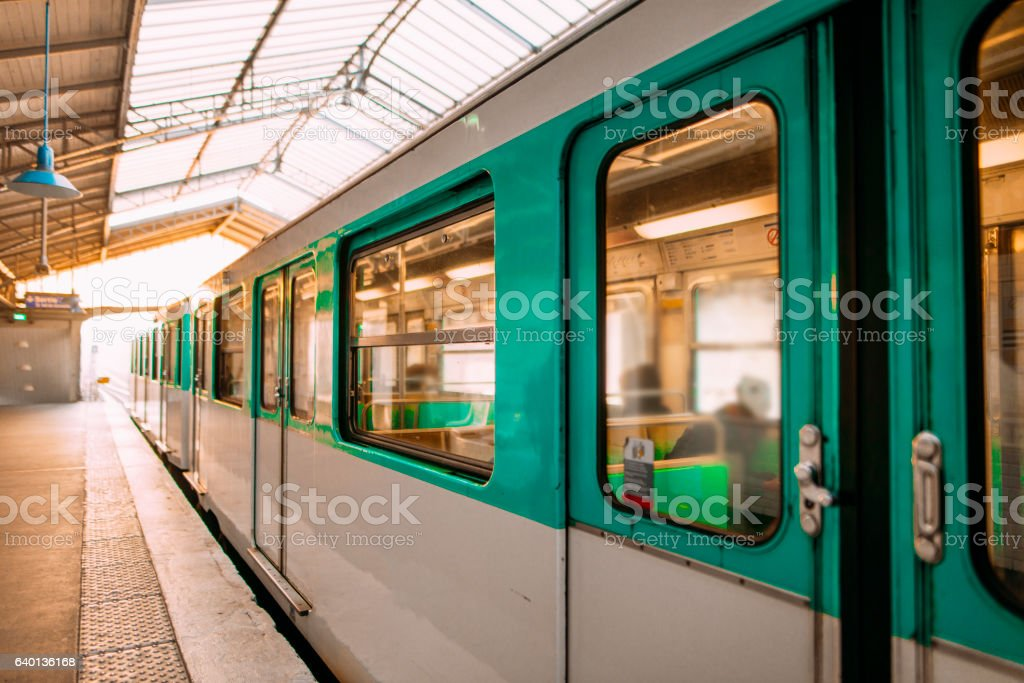 Paris Underground stock photo