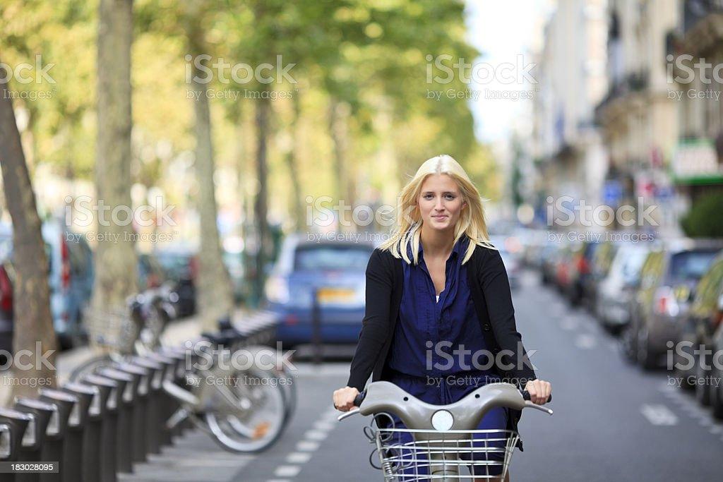 Paris velib stock photo