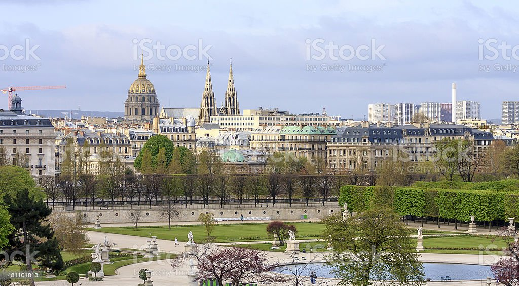 Paris Views Old and New royalty-free stock photo