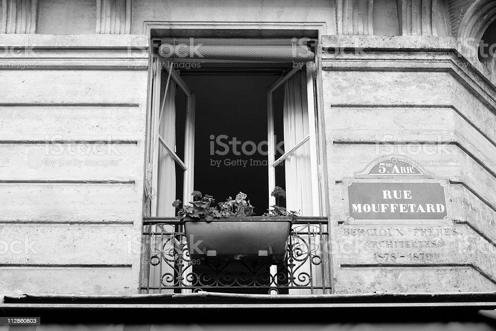 Paris window stock photo