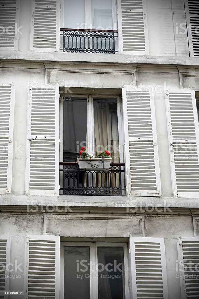 paris windows stock photo