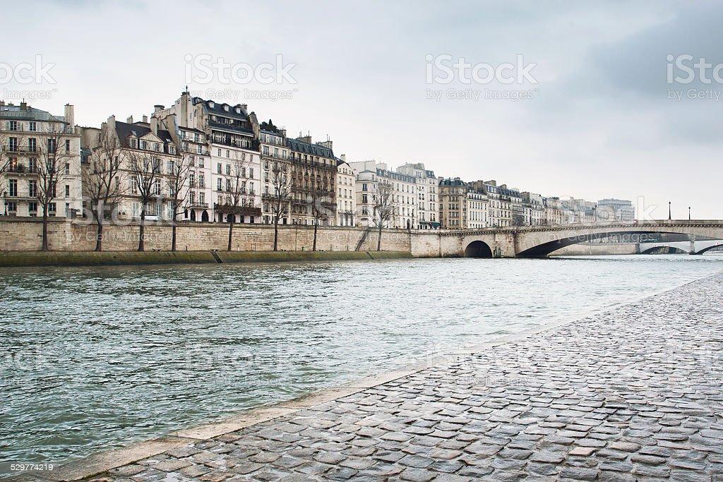 Paris winter stock photo