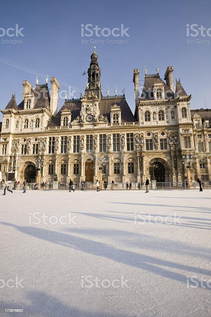 Paris, Winter Skating, France royalty-free stock photo