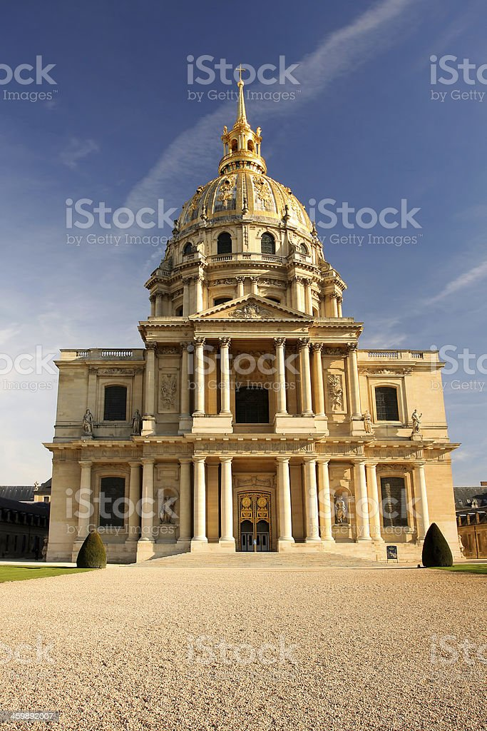 Paris with Napoleon  Les Invalides in  France royalty-free stock photo