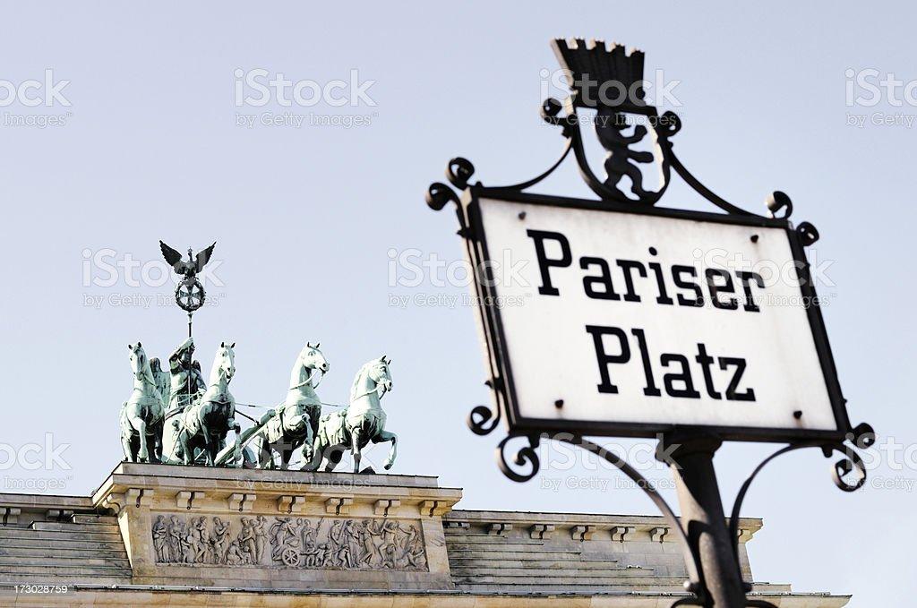 pariser paltz, brandenburg gate royalty-free stock photo