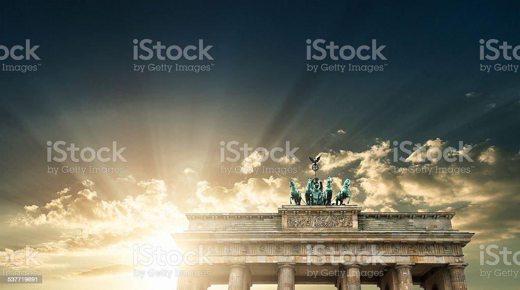 Pariser Platz and Brandeburg Tor - Berlin stock photo