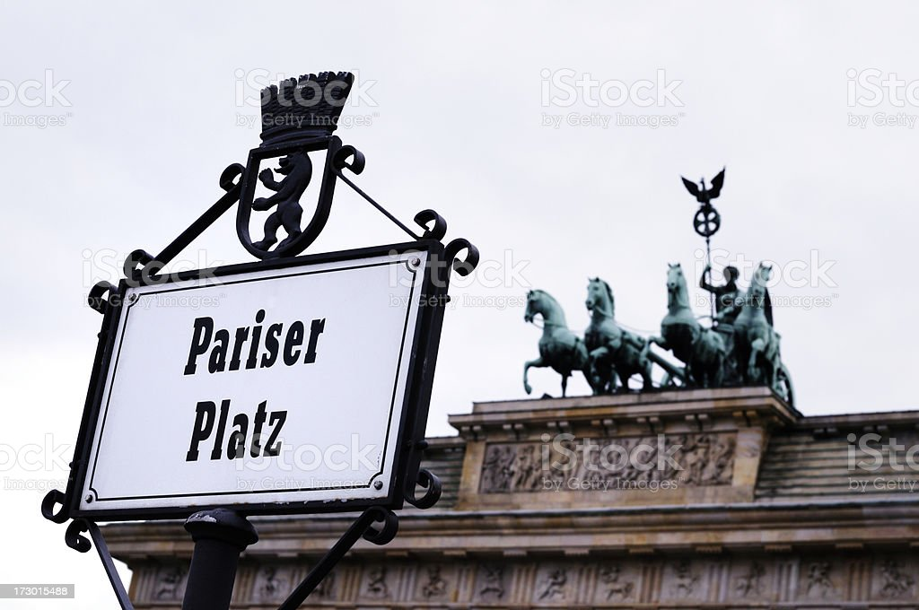 pariser platz, brandenburg gate, berlin, germany royalty-free stock photo