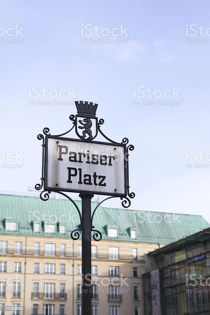 Pariser Platz royalty-free stock photo