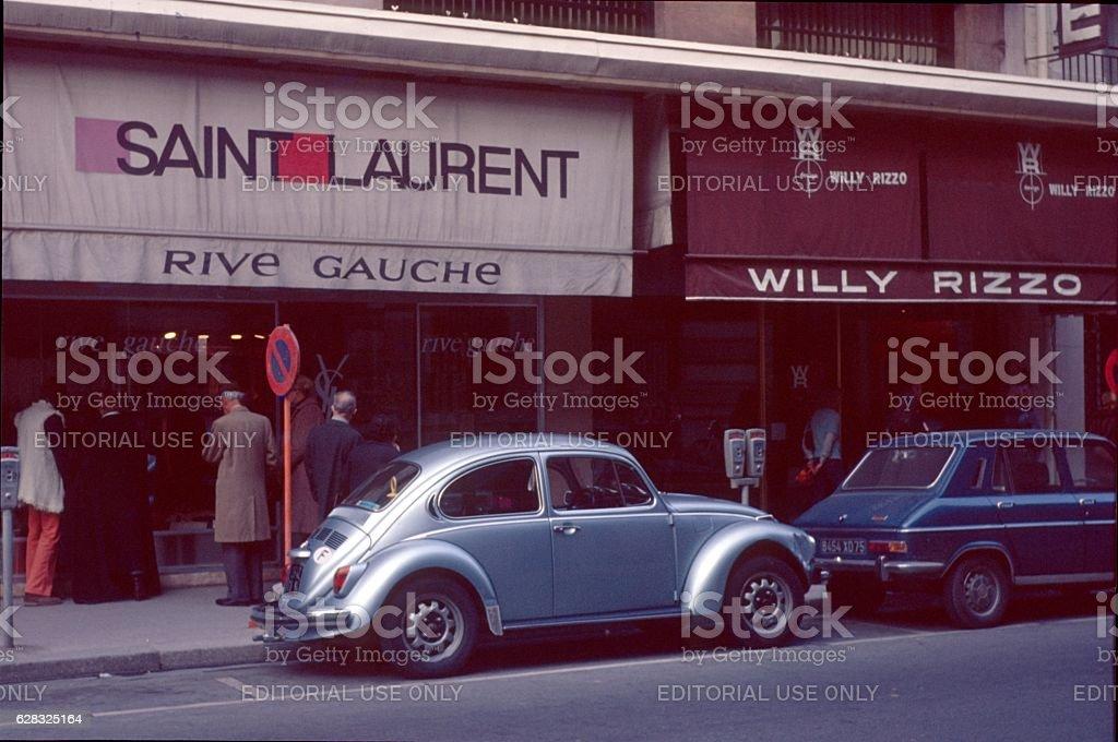 Paris,France, First Yves Saint Laurent Boudique, 1975 stock photo