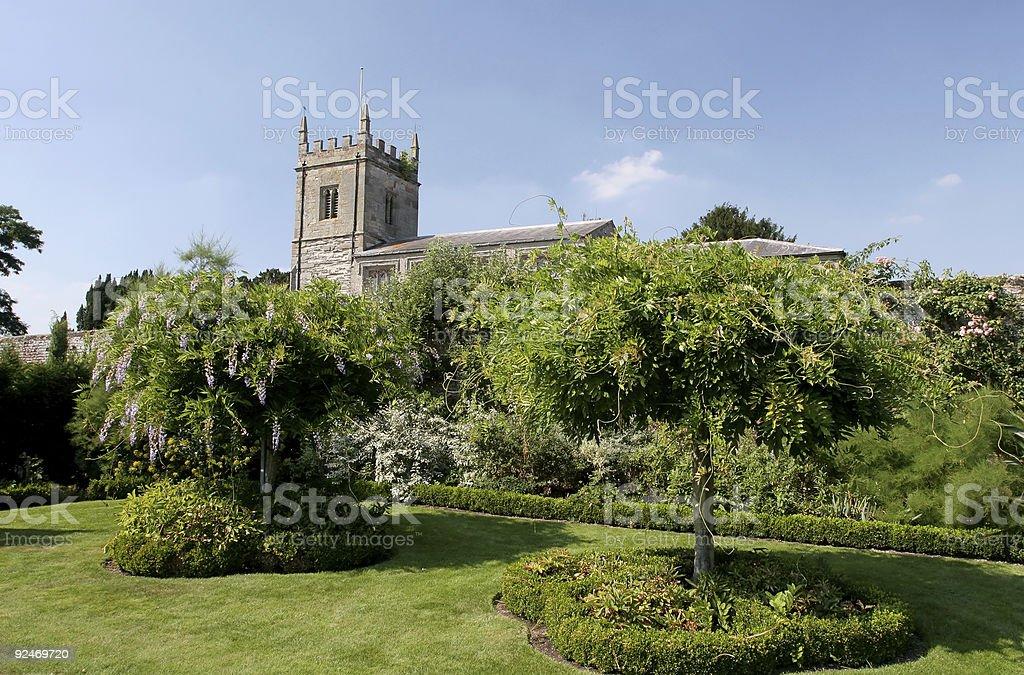 Parish Church at Coughton Court stock photo