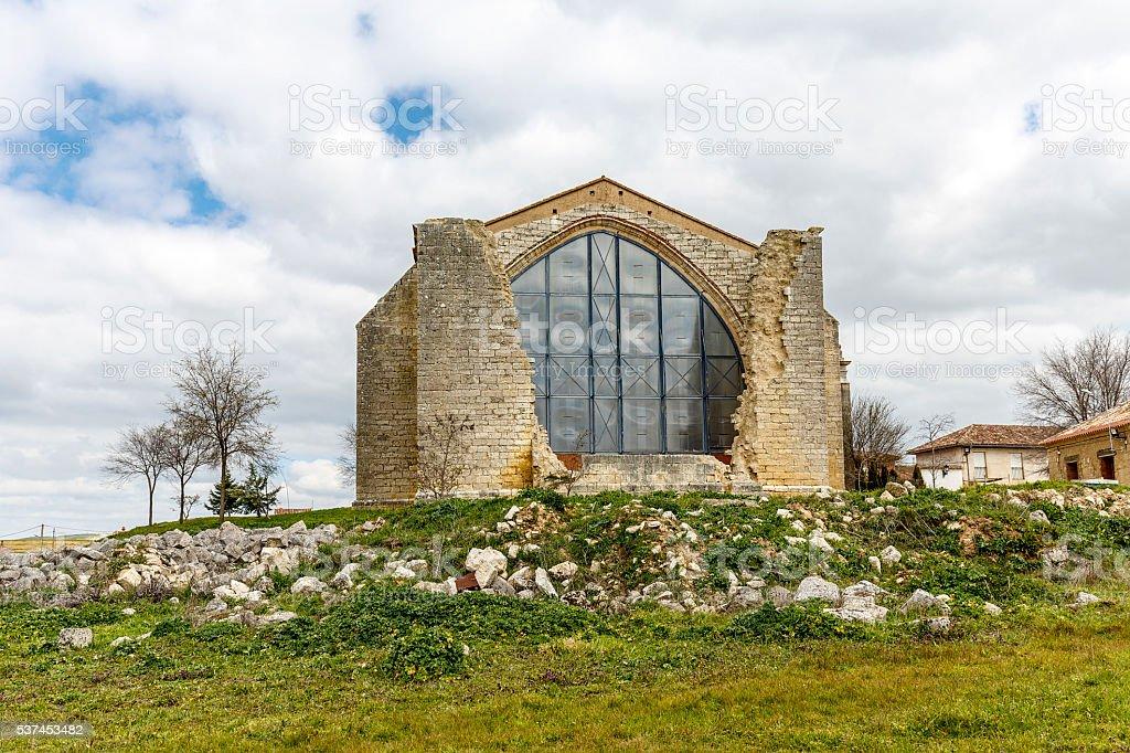 Parish Church of Saint Mary Benafarces Spain stock photo