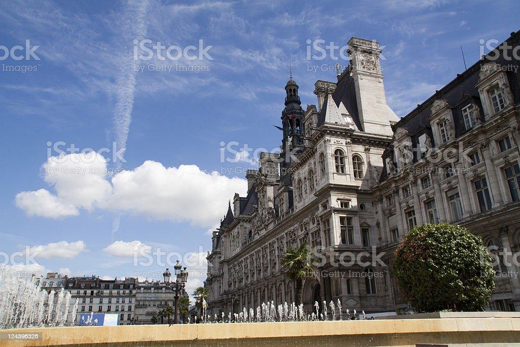 Paris-Hotel de ville royalty-free stock photo