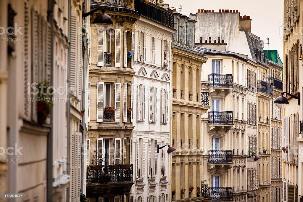 Parisian Apartments stock photo