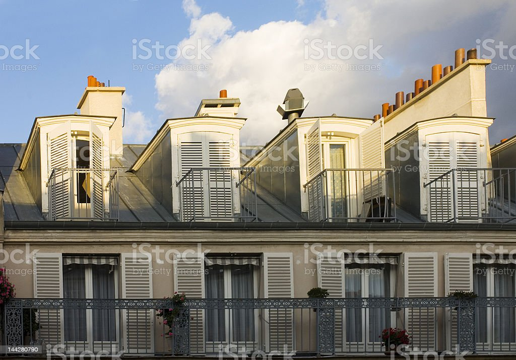 Parisian Balconies royalty-free stock photo