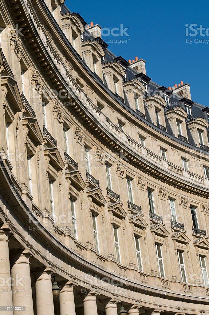 Parisian buildings stock photo