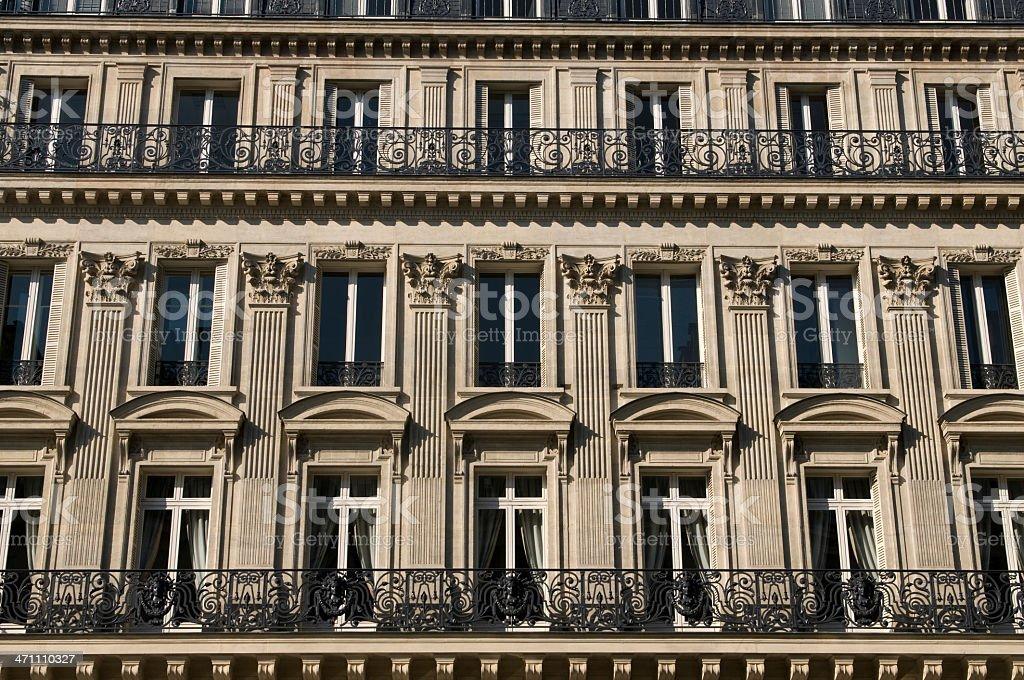 Parisian buildings royalty-free stock photo