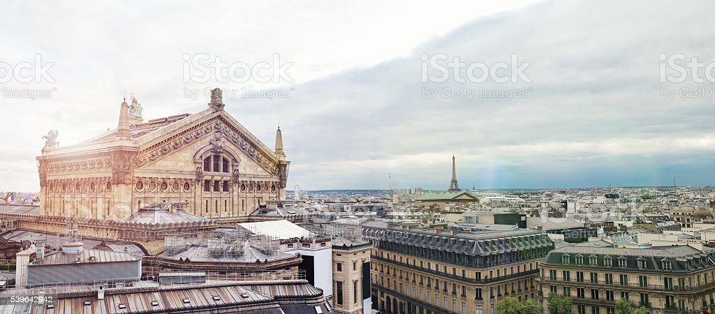 Parisian buildings stock photo