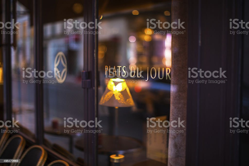 Parisian Cafe stock photo