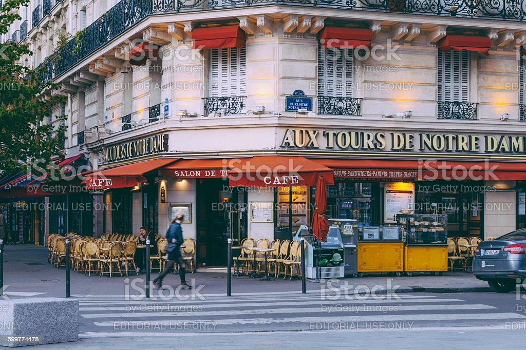 Parisian Cafe stock photo