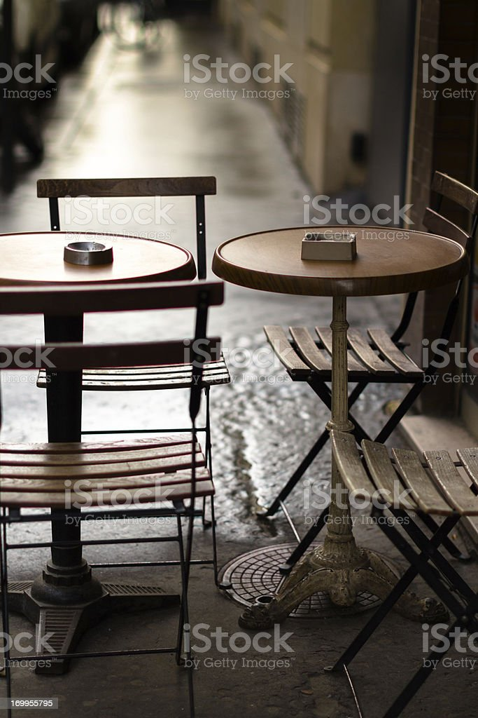 Parisian Cafe Table stock photo