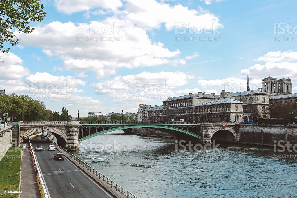 Parisian cityscape stock photo